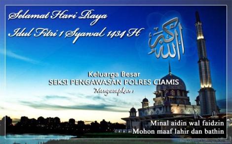 Selamat Idul Fitri 1434 H